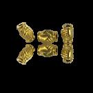 Metalen kralen vriendschap liefde 9mm goudkleur