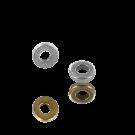 ringen 4mm verzilverd plat rond metaal