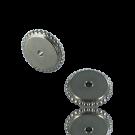 schijfjes 10mm mat zilver rond metaal gekarteld
