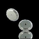 schijfjes 10mm zilver rond metaal gekarteld