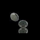 schijfjes 4mm oudzilver rond metaal gekarteld
