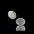 schijfjes 5mm zilver rond metaal gekarteld