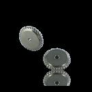schijfjes 6mm mat zilver rond metaal gekarteld