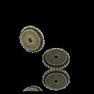 schijfjes 6mm oudgoud rond metaal gekarteld
