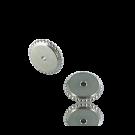 schijfjes 6mm zilver rond metaal gekarteld