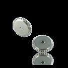 schijfjes 8mm zilver rond metaal gekarteld