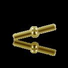 koppelstuk sluiting 4mm goud rond metaal voor pvc