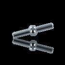 koppelstuk sluiting 4mm zilver rond kunststof voor pvc