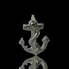 metalen stud 18mm zilver anker