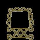 metalen stud 41mm goud met setting