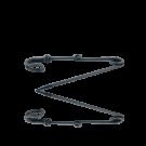 Metalen veiligheidsspelt 60mm oudzilver