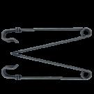 Metalen veiligheidsspelt 94mm oudzilver