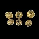 Mooie 24 karaat vergulde ronde kralen 8mm met blaadjes en takjes