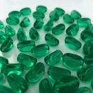 Mooie glaskralen ovaal met vlakke kanten 17mm groen