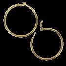 Oorbellen 45mm ronde creolen goud kleur
