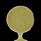 oorstekerclips 20mm verguld goud rond