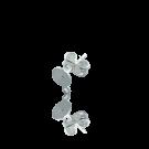 oorbellen 5mm zilver rond metaal