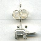 oorstekers 13mm zilver rond metaal