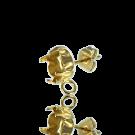 oorstekers 15mm met kastje voor SS39 goudkleur