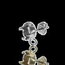 oorstekers 15mm met kastje voor SS39 zilverkleur