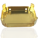 opnaaikastjes 40mm goud rechthoek