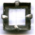 opnaaikastjes 14mm oudzilver vierkant