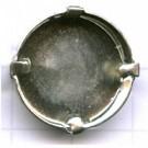 opnaaikastjes 20mm zilver rond