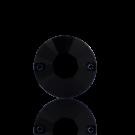 Opnaaisteen 14mm zwart rond kunststof
