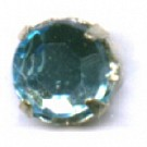 opnaaistenen 7mm blauw rond glas