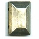 opnaaistenen 14mm oudzilver rechthoek