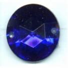 opnaaistenen 15mm blauw rond kleurnummer 3009