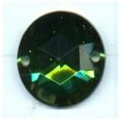 opnaaistenen 15mm groen rond kleurnummer 5015