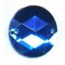 opnaaistenen 15mm blauw rond kleurnummer 6005