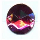 opnaaistenen 15mm roze rond kleurnummer 7012
