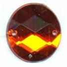 opnaaistenen 15mm oranje rond
