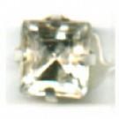 opnaaistenen 6mm kristal vierkant glas