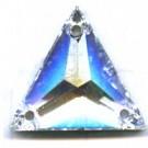 opnaaistenen 16mm driehoek kristal kleurnummer 0004