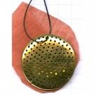 opwerkhangers 40mm goud rond metaal