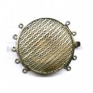 opwerksluitingen 36mm zilver rond