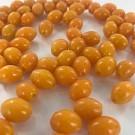 Ovale glaskralen glaskralen 11mm oranje ovaal