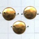 pailletten 10mm bruin rond kunststof