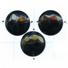 pailletten 12mm zwart rond kunststof