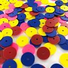 Pailletten rond plat 10mm mix