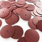 Pailletten rond plat 18mm bruin