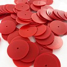 Pailletten rond plat 18mm rood