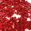 Pailletten rond plat 4mm rood