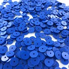 Pailletten rond plat 6mm blauw