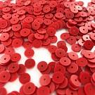 Pailletten rond plat 6mm rood