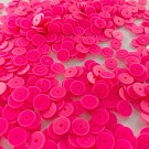 Pailletten rond plat 6mm roze