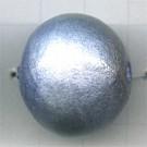 kralen 24mm blauw rond mache papier